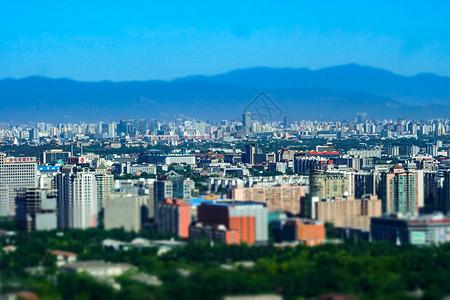 北京城市国贸CBD远眺移轴图片