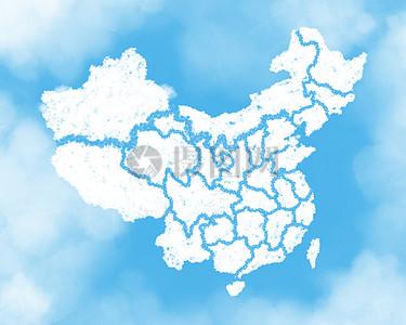 天空创意云朵-中国地图高清图片