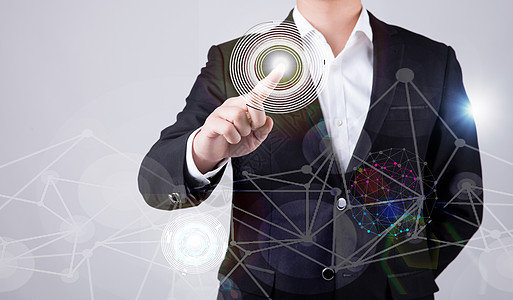 智能虚拟科技商务男士点击特效图片