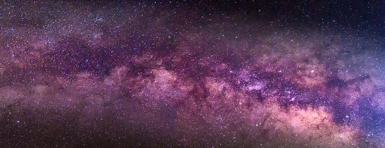 紫色银河图片