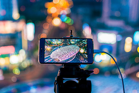 手机线上直播五角场夜景图片