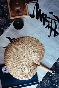 蒲扇中国风图片