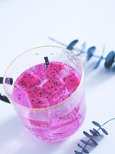 夏日火龙果饮品图片
