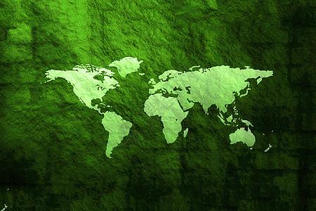 地球图案绿色背景图片