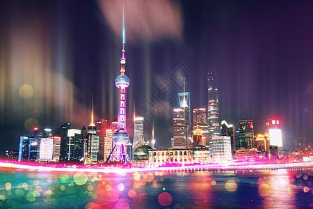 上海夜景与科技图片