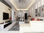 现代客厅室内装修效果图设计图片