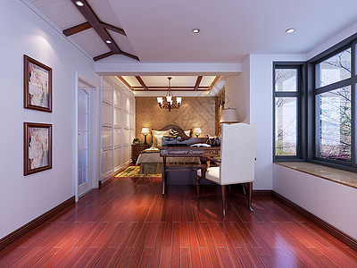 美式卧室效果图设计图片