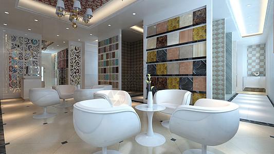 瓷砖墙纸建材专卖店装修效果图图片