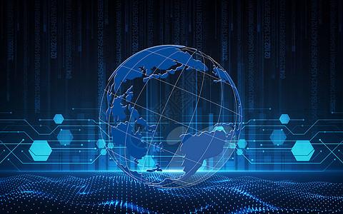 智能虚拟科技技术特效线条地球图片