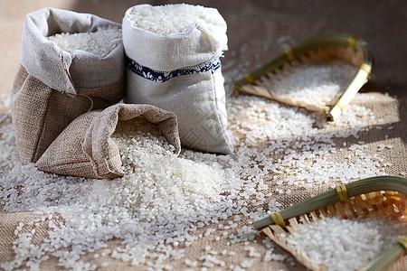米一袋米静物图片