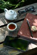 工作学习下午茶场景图片