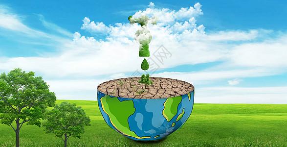保护地球节约用水图片