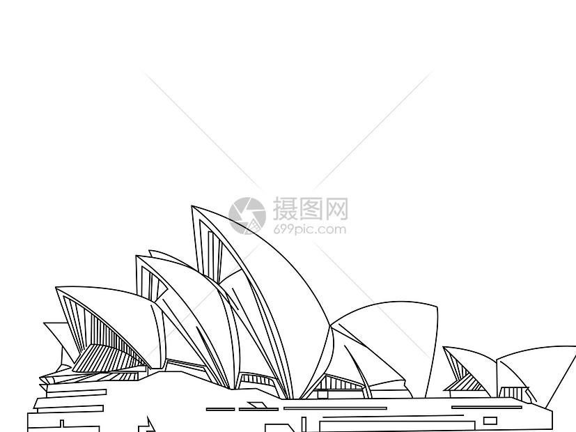 悉尼的著名歌剧院图片
