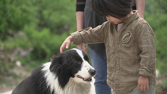 小女生与小狗狗图片