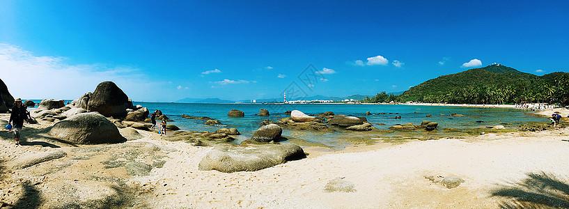 海南三亚天涯海角旅游景区沙滩蓝天碧海图片