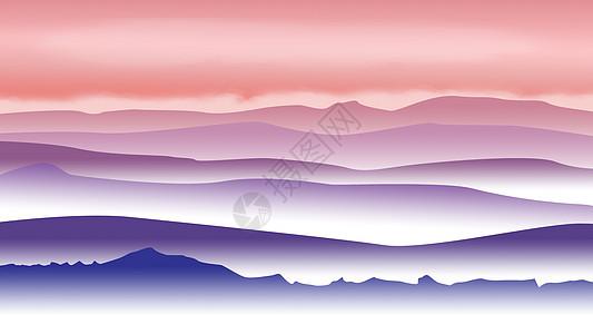 手绘-群山之间图片
