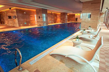 夏日室内泳池图片