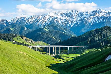 夏季的新疆风光图片