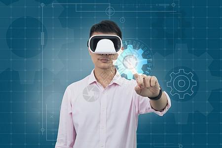 VR眼镜齿轮创意图图片