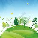 绿色清新环保背景/素材  环保创意背景/素材图片