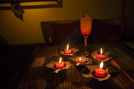 烛光晚餐图片