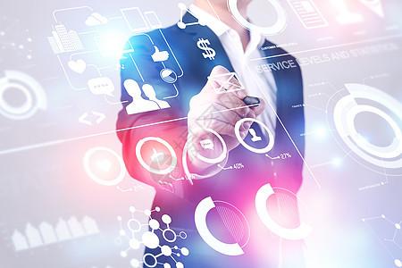 商务男士数据分析科技图片