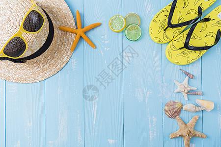 夏日帽子墨镜图片
