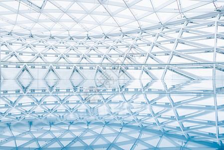 蓝色现代建筑图片