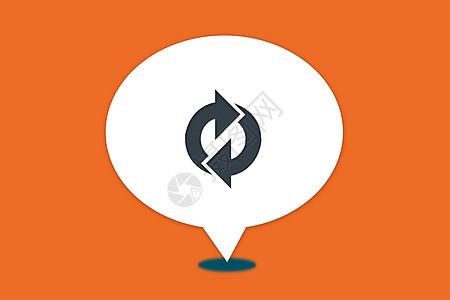 循环利用标志气泡图片