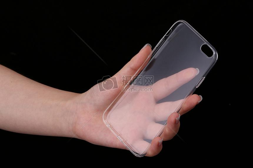 手拿手机壳图片