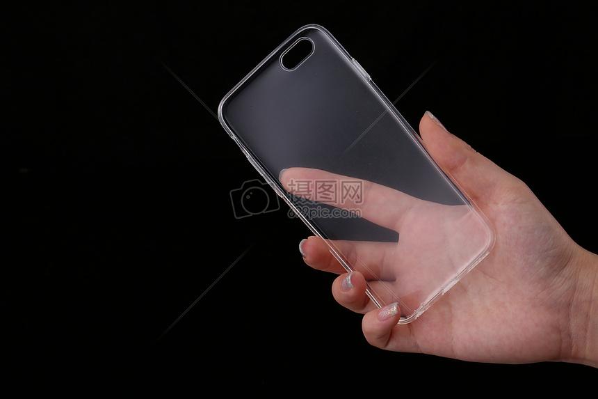 手的姿势和手机壳图片