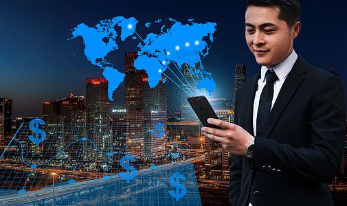 城市背景电子商务图片
