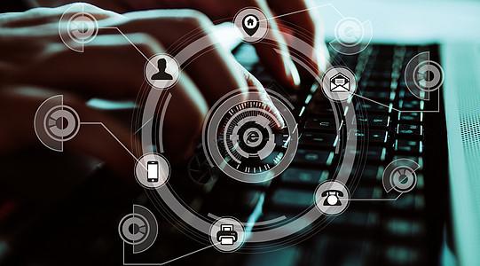 手敲键盘科学技术图片