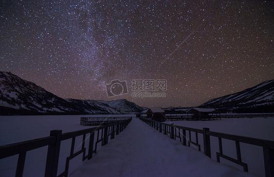 喀纳斯星空银河图片