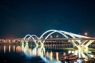 柳州广雅大桥夜景图片