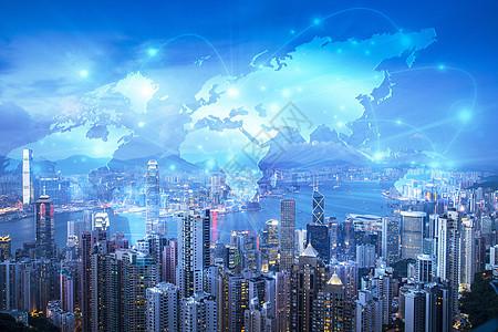 城市地图科技图片