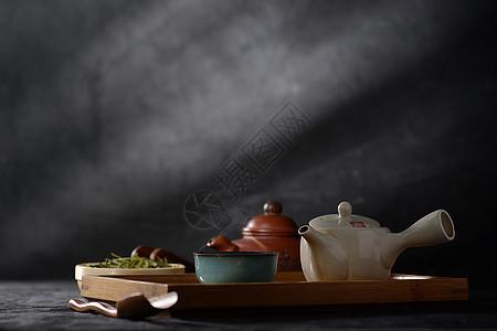 茶布景静物图片