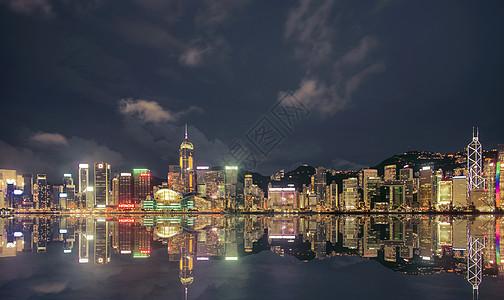 维多利亚港夜景图片