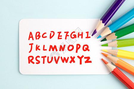 铅笔写英文图片