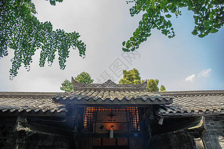 四川成都宽窄巷子古建筑与天空 图片