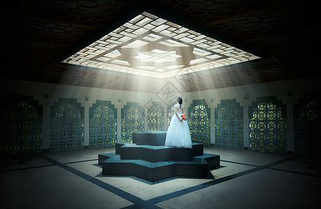 阳光下唯美婚纱图片
