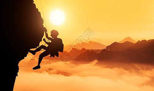 攀登成功的巅峰图片