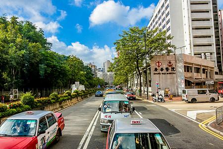 香港城市的蓝天白云图片