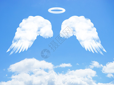 创意云彩翅膀图片