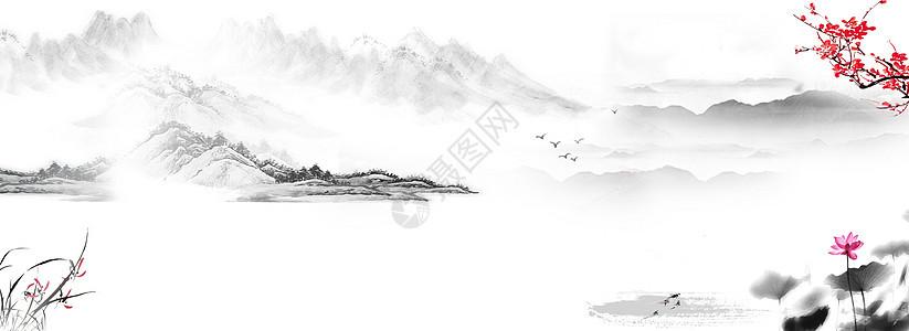 中国风山水水墨画壁纸图片