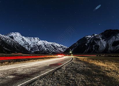 新西兰库克雪山图片