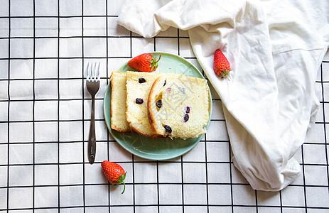 蔓越莓切片面包早餐图片