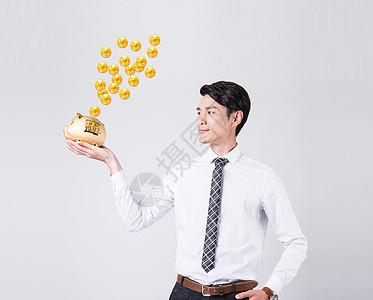 金猪存钱创意设计图片