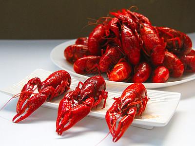 夏季麻辣小龙虾图片