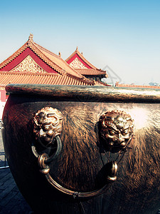 故宫 -鎏金铜缸图片